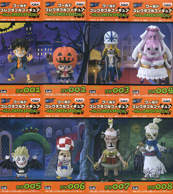 One Piece WCF World Collectable Figure HALLOWEEN SPECIAL 8 Set luffy from - One Piece Halloween Special