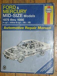 HAYNES - AUTOMOTIVE REPAIR MANUAL - FORD & MERCURY 1975-1986. Stratford Kitchener Area image 1