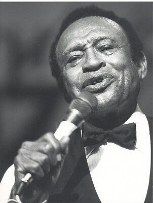 Foto amerikanischer Musiker LIONEL HAMPTON  Vintage von 1988 Pressefoto USA Jazz