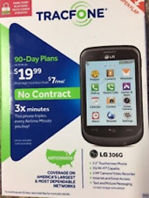 New TracFone LG 306G No Contract Cheap Cell Phone Best Seller Fast Free