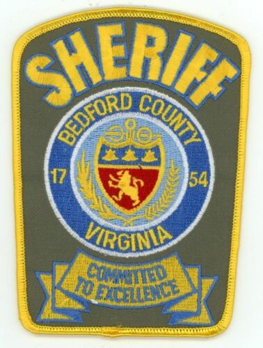 BEDFORD COUNTY SHERIFF VIRGINIA VA NEW PATCH POLICE