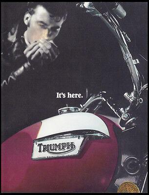 1976 TRIUMPH BONNEVILLE TIGER 750cc MOTORCYCLE BROCHURE CATALOG T140 TR7 NVT