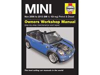 BNIP HAYNES BMW MINI SERVICE & REPAIR MANUAL 2006 - 2013 COVERS PETROL & DIESEL