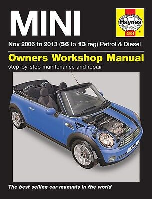Haynes Manual 4904 Mini Mk 2 ONE Cooper Convertible 1.6D 2.0D Nov 2006-2013