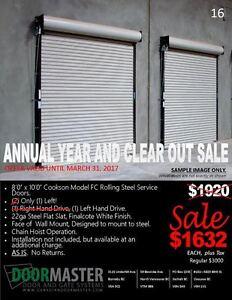 Rolling Steel Garage Door Sale!