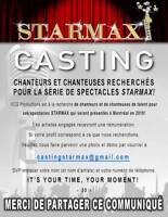 STARMAX RECHERCHE CHANTEURS ET CHANTEUSES!!