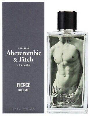 FIERCE BY ABERCROMBIE & FITCH 6.7 OZ / 200ML MEN'S EAU DE COLOGNE NEW & SEALED