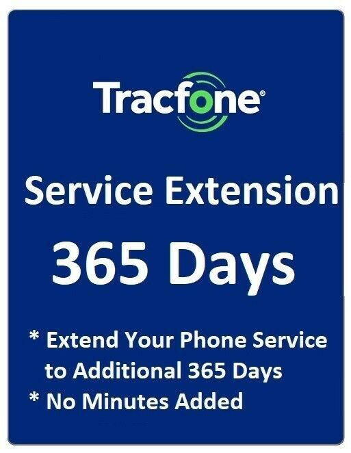 TracFone 1 Year 365 Days Service Extension Digital Refill All Phones Except BYOP