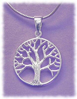 * Chakra Schmuck * Baum des Lebens - Lebensbaum - 925er Silber - 20mm