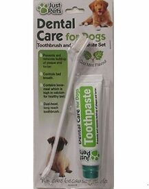 Dental Care For Dogs Toothpaste 100g and Toothbrush Dental Kit No Rinsing Free UK Postage