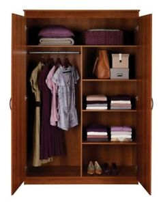 Wardrobe, 4 months old, cherry finish - still under warranty!