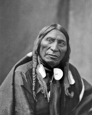 Native American CHIEF CONQUERING BEAR Glossy 8x10 Photo Brule Lakota Print