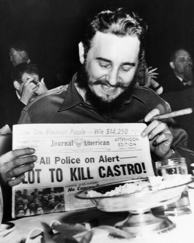 Prime Minister of Cuba FIDEL CASTRO Glossy 8x10 Photo Print Newspaper Poster
