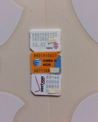 X3 Apple Iphone 6 6+ 5s Nano Sim Card- AT&T TMOBILE & VERIZON, Only 4 Activation