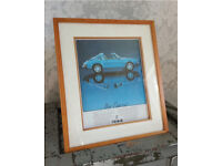 Porsche 911 car picture in frame. 👍🏻
