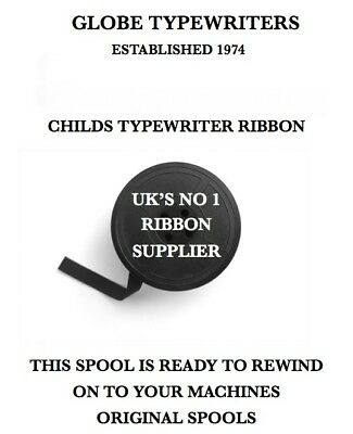 Barbie Childs Typewriter Ribbon Fully Inked For Machines With Original Spools