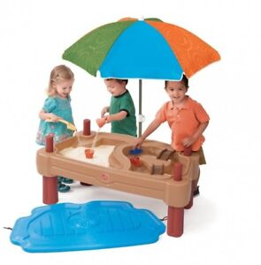 Sand & Water Table w/ Umbrella - Step2