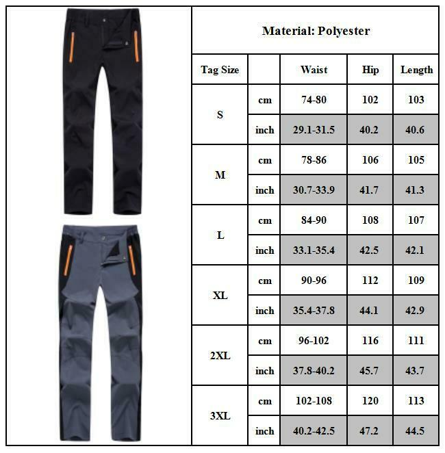 Mens Outdoor Hiking Trousers Cargo Combat Tactical Bottom Climbing Fishing Pants Clothing, Shoes & Accessories