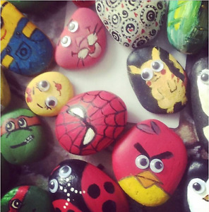 rock painting class for kids