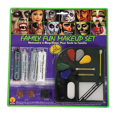 Face Paint Kit Halloween Makeup Grease Make Up Made In USA Clown Zombie Cat (Halloween Painted Faces Zombies)