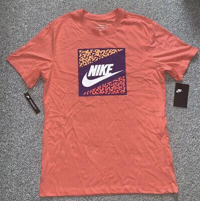 Nike Sportswear Coral Peach Futura Logo Tee T-Shirt Men's 2XL CT6572-424