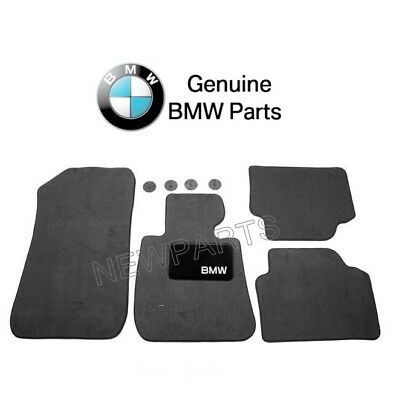 For BMW E90 E91 325i 328i 330i Front & Rear Black Floor Carpeted Mat Set Genuine Bmw 325i Floor Mats