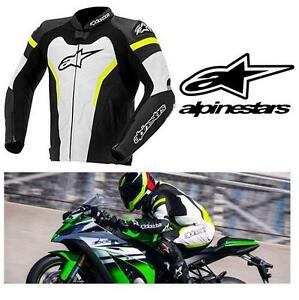 NEW* ALPINESTARS GP JACKET MEN'S LG - 128725554 - BLACK YELLOW WHITE - GP PRO MOTORCYCLE JACKET