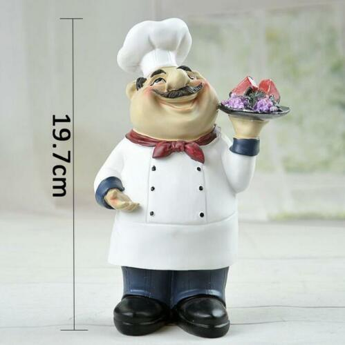 Home Bar Restaurant Kitchen Decor Chef Ornament Figurine