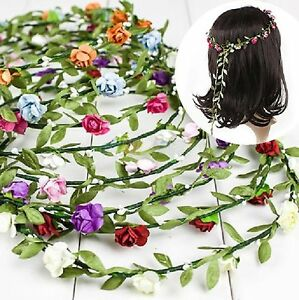 ... -pour-cheveux-Fleurs-Couronne-Petales-Roses-tressee-Parure-Serre-tete