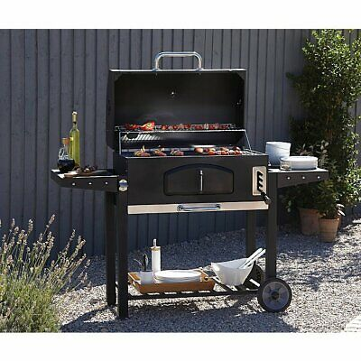 Large barbecue Outdoor XXL Smoker Charcoal BBQ Portable Grill Garden BBQ, gebruikt tweedehands  verschepen naar Netherlands