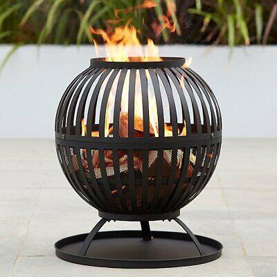 Expert Grill Log Burner Fir Pit Wood Fire Bowl Garden Outdoor Heater Heating