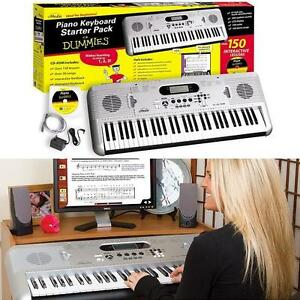 NEW* EMEDIA PIANO FOR DUMMIES PACK Piano for Dummies 61-Key Keyboard Starter Pack - MUSICAL INSTRUMENTS 104647279
