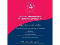 Get your property managed by a regulated agent for just £50 per calendar month