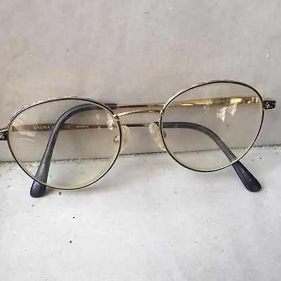Laura Ashley Patricia Prescription Eye Glass Frames Round Metal Nose Pads Gold