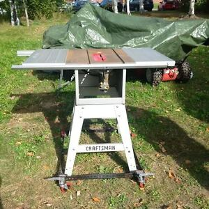 """10"""" Craftsman Table Saw with all attachments"""