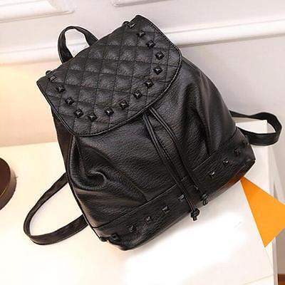 Women Girl Backpack Travel PU Leather Handbag Rucksack Shoulder School Bag NOM