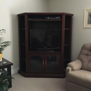 Beautiful Dark Stained Entertainment unit - Good as new!