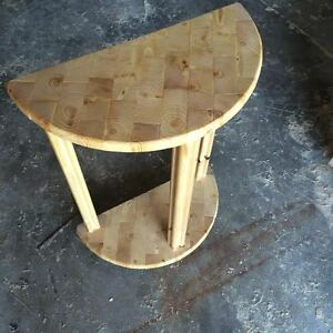 half round side table