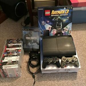 500Gb PS3 with controllers and games Prince George British Columbia image 1