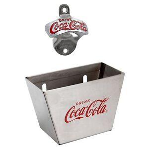 tablecraft coca cola coke wall mount bottle opener cap catcher. Black Bedroom Furniture Sets. Home Design Ideas