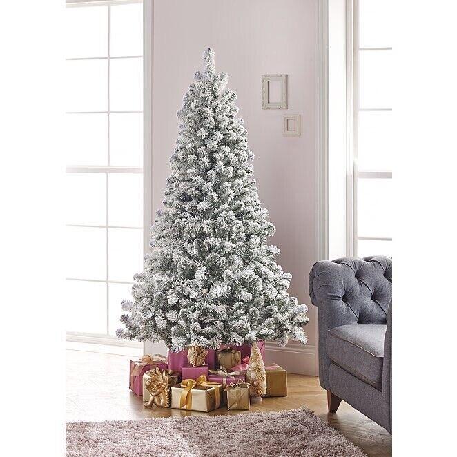 Asda Christmas Trees: Asda 6ft Snowy Flocked Christmas Tree