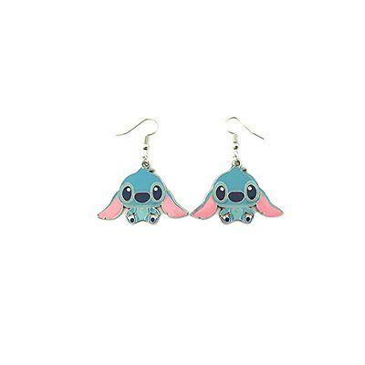 (Disney Cartoon Lilo & Stitch Dangle Earrings W/Gift Box)