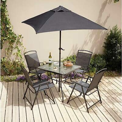 6 PIECE PATIO OUTDOOR GARDEN TABLE 4 CHAIRS DINING SET FURNITURE SUMMER NEW