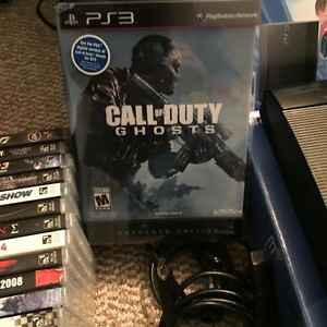 500Gb PS3 with controllers and games Prince George British Columbia image 2