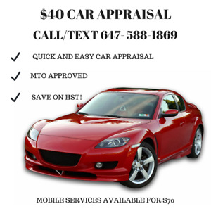 FREE PHONE APPRAISAL - MTO Approved- Save $$$ at Service Ontario