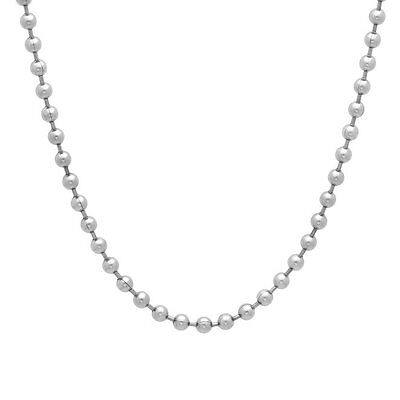 - Stainless Steel Military Style Dog Tag Ball Chain Necklace