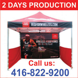 Custom Printed COMMERCIAL GRADE Pop Up Promo TENT 10x10' Canopy