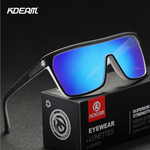 KDEAM Unisex Polarized Large Frame Sunglasses Outdoor Riding Fishing Glasses New