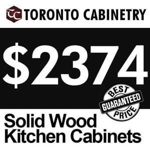 Pre-made Solid Wood Kitchen Cabinets***Promotion**