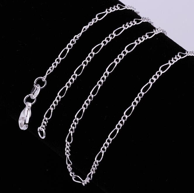 925 Sterling Silber Figarokette Damen Herren